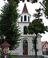 Brodnica - Mały Rynek widoczny kościół p.w Matki Bożej Królowej Polski - panoramio.jpg