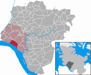Brokdorf - Image: Brokdorf in IZ