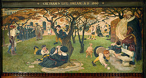 Bluecoat - Image: Brown Manchester Mural Chetham