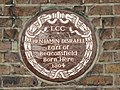Brown LCC plaque re Benjamin Disraeli on 22 Theobald's Road, WC1 - geograph.org.uk - 1246574.jpg