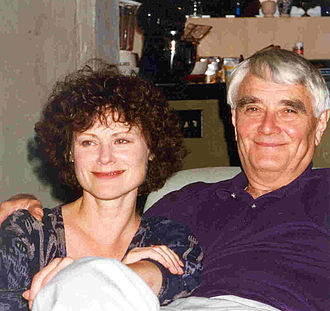 Budd Hopkins - Budd Hopkins with former wife and co-author, Carol Rainey, 1996