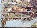 Buffalmacco, trionfo della morte, incontro dei tre vivi coi tre morti 05.JPG