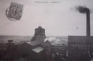 Compagnie des mines de Béthune - Image: Bully les Mines Fosse n° 1 1 bis 1 ter des mines de Béthune (A)