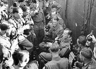 Otto Kretschmer - Kretschmer with the crew of U-99 celebrating his Knight's Cross award in 1940