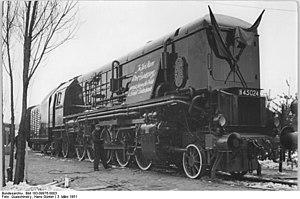 DRG Class 45 - H 45 024 in Leipzig, 1951