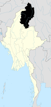 Location of Kachin State in Burma