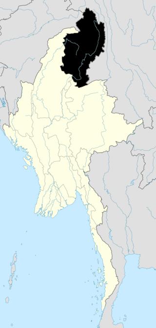R. strykeri se distribuye por el estado Kachin, al norte de Birmania (en negro).