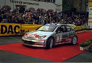 Richard Burns - Burns with a Peugeot 206 WRC at the 2002 Rallye Deutschland