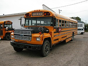 School bus in Quebec