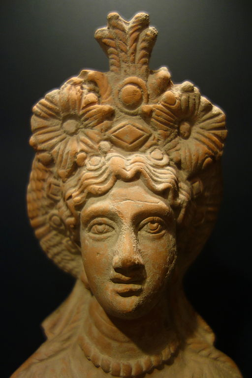 File:Bust of the goddess Isis, Egypt, 10 BC - 40 AD ...