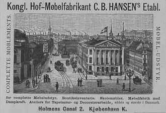 Erichsen Mansion - Advertisement for the furniture store