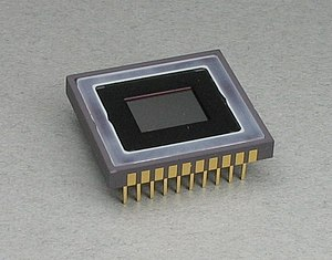Photograph of CCD image sensor, 2/3 inch size....
