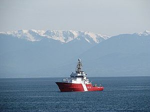 Canadian Coast Guard Ship - Image: CCGS Gordon Reid off Ross Bay