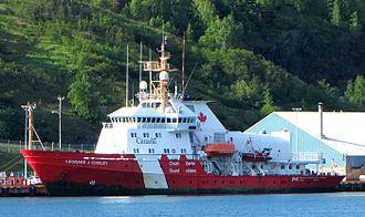 Canadian Coast Guard - Image: CCGS Leonard J Cowley, Offshore Patrol Vessel