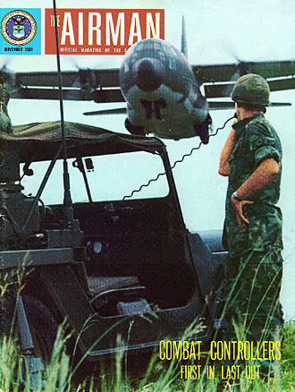United States Air Force Combat Control Team - Combat Controllers in Vietnam featured on the cover of a 1968 issue of Airman Magazine.