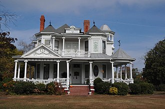 Troy, Alabama - The Wood-Spann House on Historic College Street