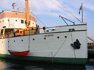 Banks dory - Banks dory used as work boat by CSS ''Acadia''