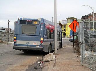 Meriden station - A route C5 bus at Meriden in December 2016