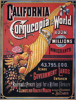 Propaganda techniques - Propaganda to urge immigrants to move to California, 1876