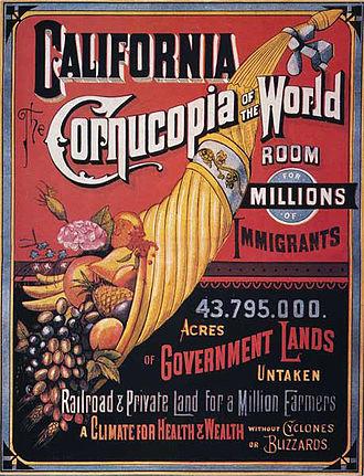 Propaganda techniques - Propaganda to urge immigrants to move to California, 1876