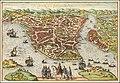 Ca. 1660 bird's eye view map of Constantinople.jpg