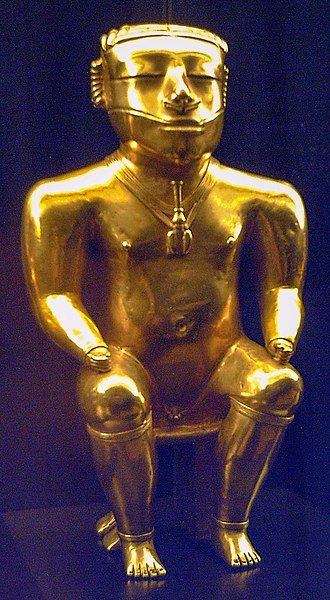 Quimbaya civilization -  Statuette of a Quimbaya cacique