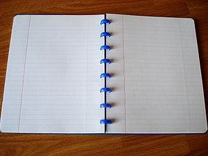 Ruled paper - A notebook with ruled paper