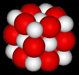 Calcium oxide - Image: Calcium oxide 3D vd W