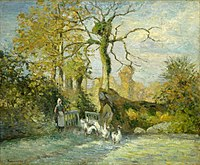 Camille Pissarro - The Goose Girl at Montfoucault (White Frost) - 98.295 - Museum of Fine Arts.jpg