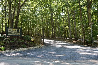 National Register of Historic Places listings in Bath County, Virginia - Image: Camp Mont Shenandoah entrance