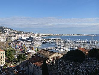 Cannes Film Festival - Cannes seen from Le Suquet