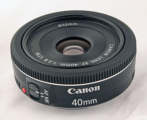 Canon EF 40mm STM lens (focus stacked version)