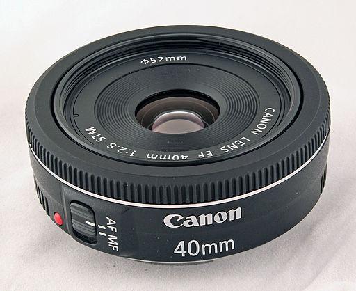 Canon EF 40mm STM lens (focus stacked version)