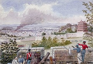 Battle of Canton (May 1841) - British bombardment of Canton from the surrounding heights