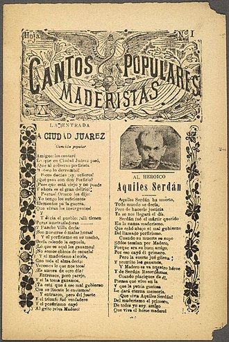Corrido - Song about the battle of Ciudad Juarez title Toma de Ciudad Juárez