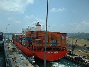 English: Cap Blanco / Panama Canal Lock IMO nu...