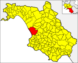 Capaccio within the Province of Salerno