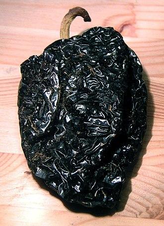 Poblano - Image: Capsicum annuum ancho dried