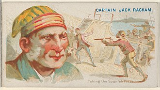 Calico Jack - Image: Captain Jack Rackham, Taking the Spanish Prize, from the Pirates of the Spanish Main series (N19) for Allen & Ginter Cigarettes MET DP835040