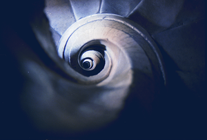 """Alustante - """"Caracol"""" (stairs to the Tower) of the Church of Alustante"""