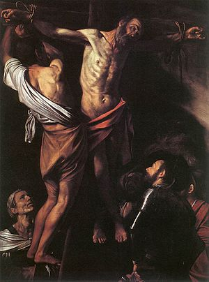 The Crucifixion of Saint Andrew (Caravaggio) - Image: Caravaggio Crucifixion santandrew