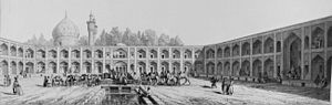 Abbasi Hotel - Image: Caravanserai of mother of Shah Sultan Hussein by Pascal Coste