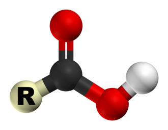 Carboxylic acid - 3D structure of a carboxylic acid