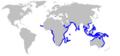Pigeye shark geographic range