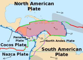 Caribbean Plate A mostly oceanic tectonic plate including part of Central America and the Caribbean Sea