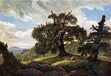 Eichen am Meer, 1834/35 (Quelle: Wikimedia)