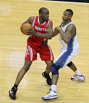 Carl Landry - Landry playing for the Houston Rockets