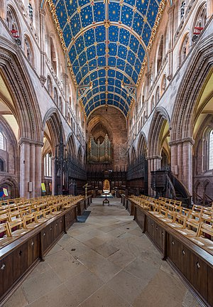Carlisle Cathedral - The view from the altar looking west towards the choir and organ