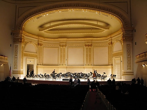 Carnegie Hall, New York, where Barbirolli conducted from 1936 to 1943 External audio You may listen to John Barbirolli conducting his orchstral transcription of Johann Sebastian Bach's Sheep May Safely Graze from his Cantata Was mir behagt, ist nur die muntre Jagd, BWV 208 with the New York Philharmonic in 1940 here on archive.org Carnegie-hall-isaac-stern.jpg