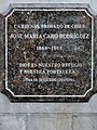 Caro, Jose Maria -placa junto a la estatua por Galvarino Ponce.jpg